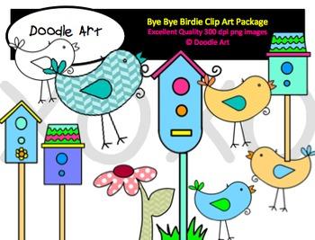 Bye Bye Birdie Clipart Pack