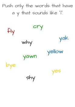 "Bye - Bye ""Y"" phonics book"