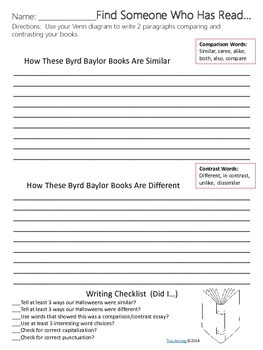 Byrd Baylor Author Study {NO PREP Writing Activities & Game}