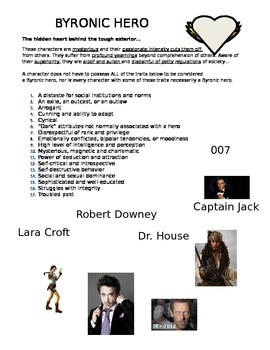 byronic hero poems and traits worksheet by deedumtweedle tpt byronic hero poems and traits worksheet