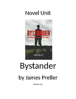 Bystander by James Preller - Novel Unit with Chapter Quizzes