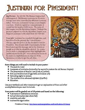 Byzantine Emperor Justinian Campaign Poster