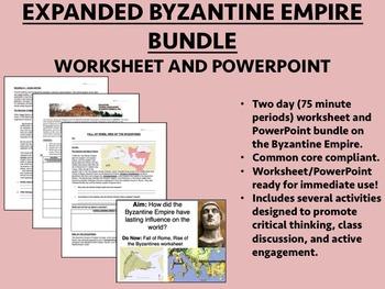 Byzantine Empire EXPANDED Bundle - worksheet/PP Global/Wor