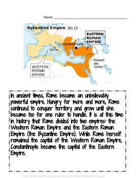 Byzantine Empire-Eastern Roman Empire Mosaics Craft, & Reading Activities & More
