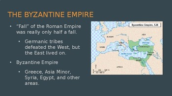 Byzantine Empire, Islamic World, Renaissance, Exploration & Expansion Slides