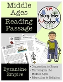 Byzantine Empire Middle Ages Rome Reading Passage