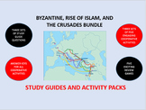 Byzantine Empire, Rise of Islam, Crusades Bundle: Study Guide/Activity Packs
