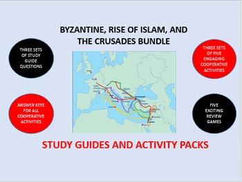 Byzantine Empire, Rise of Islam, Crusades Bundle: Study Guide/Activity Packs