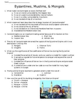 Byzantine Empire Test