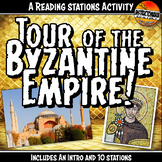 Byzantine Empire Tour Station Activity with Graphic Organi