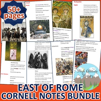 Byzantines, Han, Muslims, Mongols Cornell Notes *Bundle* (World) East of Rome
