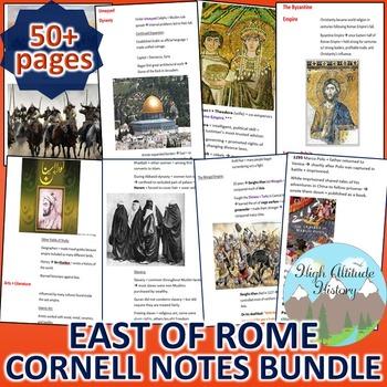 Byzantines, Han, Muslims, Mongols Cornell Notes *Bundle* (