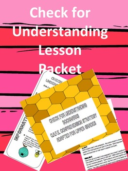 C.A.F.E. Strategy Bookmark and Mini-Lesson (middle grades)