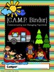 C.A.M.P. Camping Themed Binder Covers