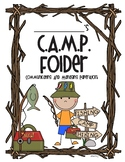 C.A.M.P. Take Home Folder Cover Page and Letter