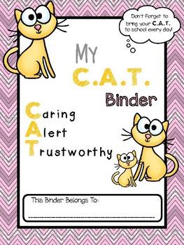 C.A.T. Folder Binder Cover