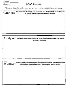 C.A.W. Response Sheet
