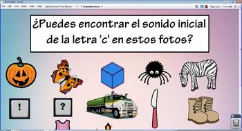 'C' Beginning Sound-Spanish