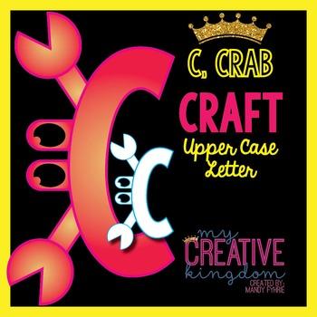 C - Crab Upper Case Alphabet Letter Craft