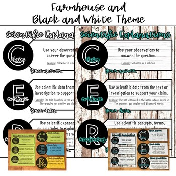 C.E.R. Claim Evidence Reasoning Anchor Chart, Foldable, Card Sort, and more