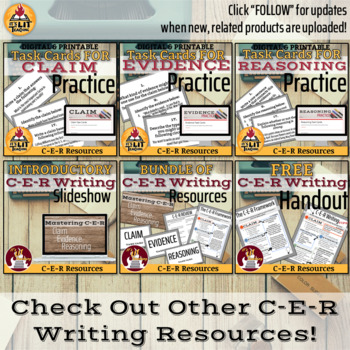 C-E-R Writing Graphic Organizer