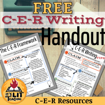 C-E-R Writing Student Handout FREEBIE