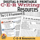 C-E-R (claim, evidence, reasoning) Writing Bundle (Distance Learning)