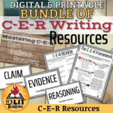C-E-R (claim, evidence, reasoning) Writing Bundle (Distanc
