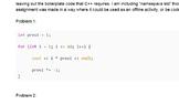 C++ Coding For Loop Practice