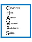 C.H.A.M.P.S. Behavior Management Poster