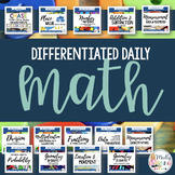 **FULL YEAR GROWING BUNDLE **: Differentiated Daily Math F