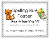 C & K OG Spelling Rule Poster