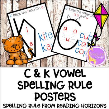 C & K Vowel Spelling Posters