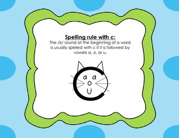C, K, and CK Spelling Activity