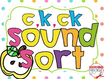 C, K, and CK sound sort with picture cards