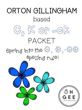 C, K or -ck Spelling Rule Packet