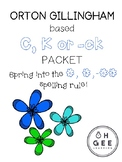 C, K or -ck Spelling Rule Packet Orton-Gillingham Aligned