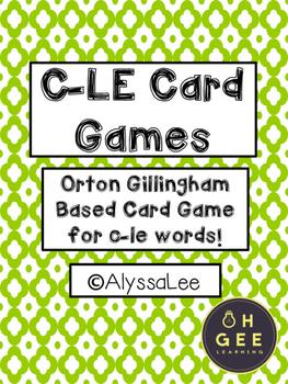 C-LE Card Games- Orton Gillingham