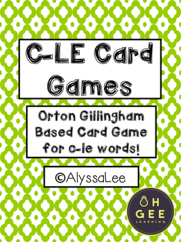 C-LE Card Games- Orton Gillingham Aligned