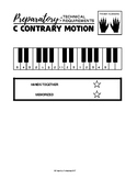 C Major Contrary Motion Scale (1 Octave) - Preparatory Tec