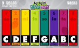 Boomwhackers Color-Coded C Major Diatonic Scale