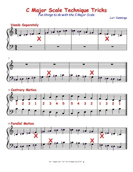C Major Scale Techniques and Tricks