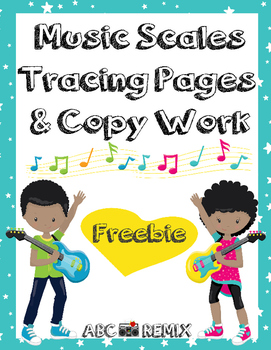 C Major Scale Tracing Pages-FREE