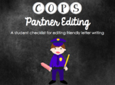 C.O.P.S. Friendly Letter Writing Editing Checklist