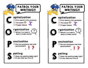 C.O.P.S. Mini-Chart