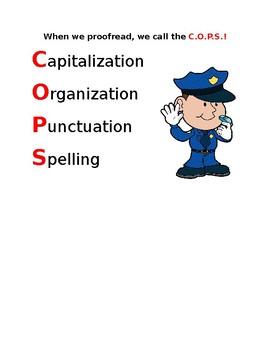 C.O.P.S. Proofreading (Capitalization, Organization, Punctuation, Spelling)
