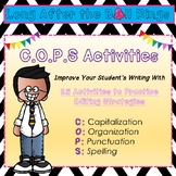 Writing Center: 25 No Prep Writing Activities (C.O.P.S editing)