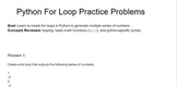 Python Coding For Loop Practice Problems