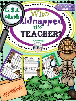 {KIDNAPPED TEACHER}C.S.I Math Review(BEGINNING/END OF THE YEAR){Summer School}
