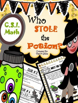3Halloween C.S.I. Math Review {Who STOLE the Potion?} NO PREP